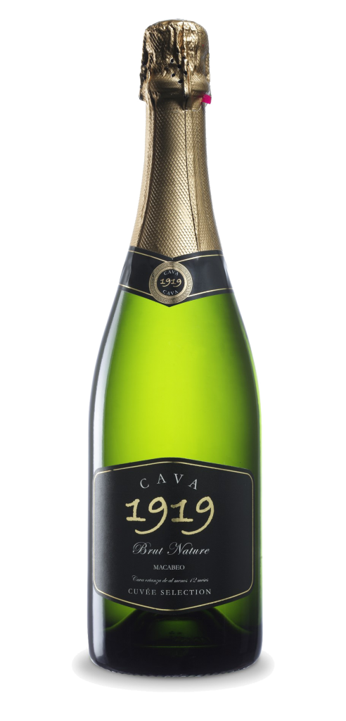 Cava 1919 Brut Nature wine bottle design