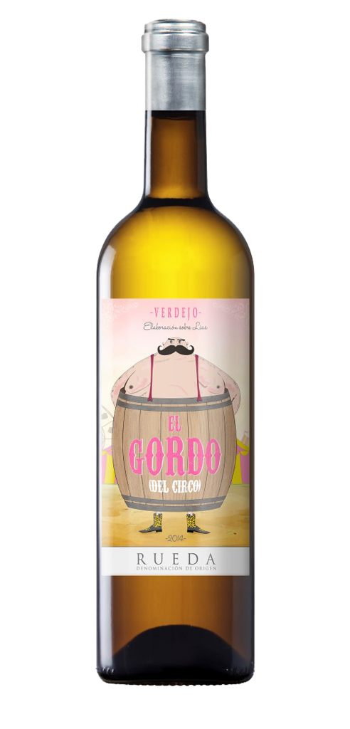 El Gordo del Circo wine bottle design