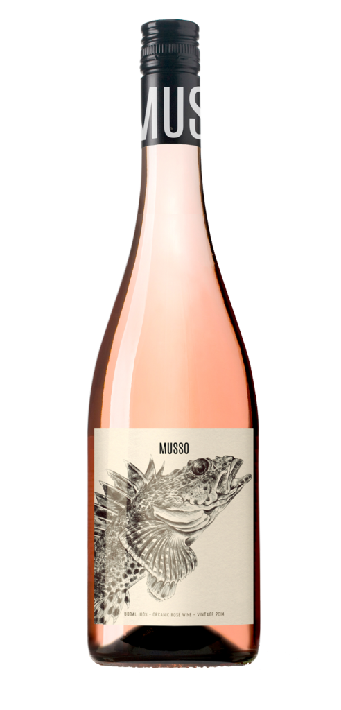 MUSSO Bobal wine bottle design