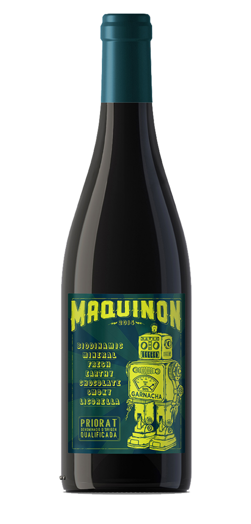 Maquinon wine bottle design