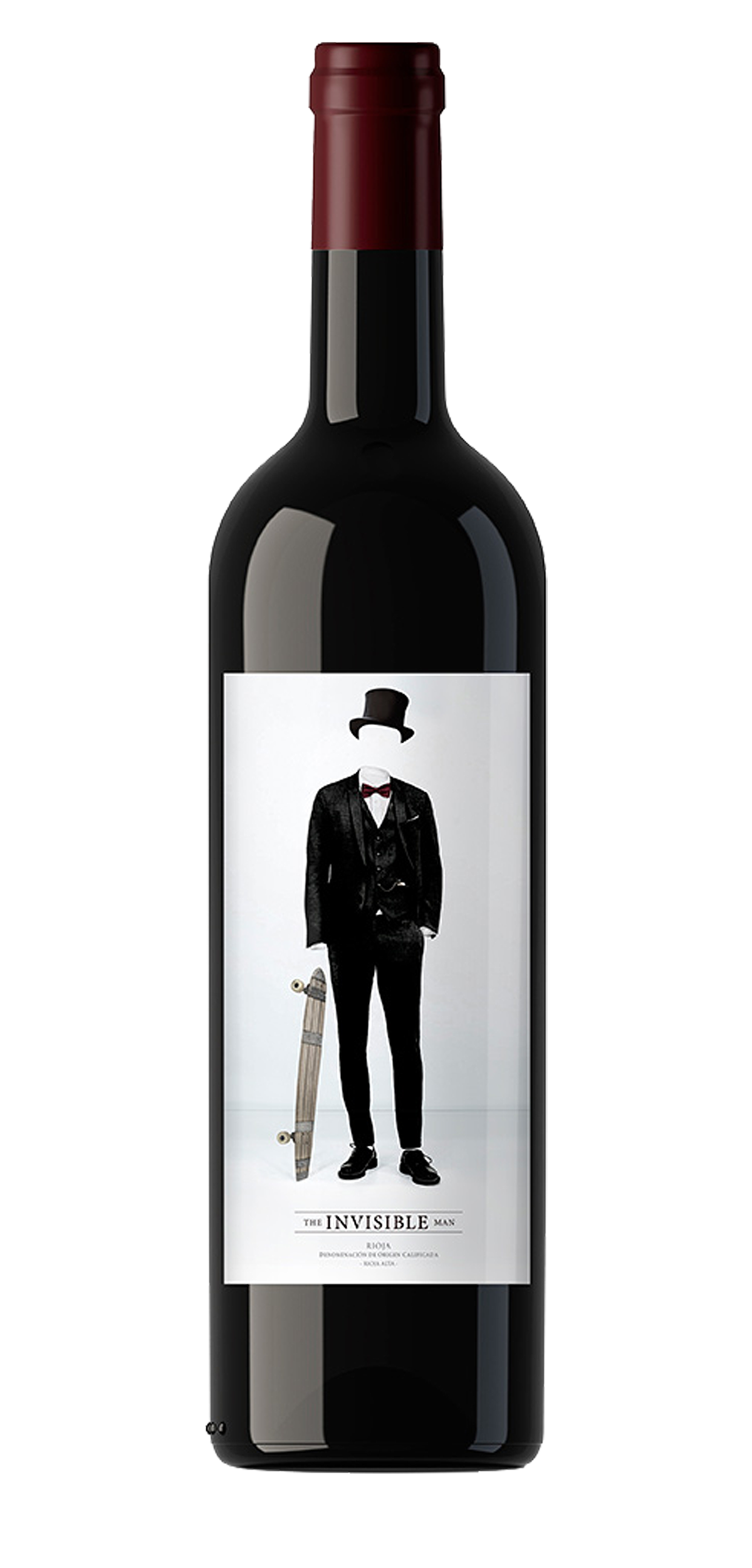 The Invisible Man wine bottle design
