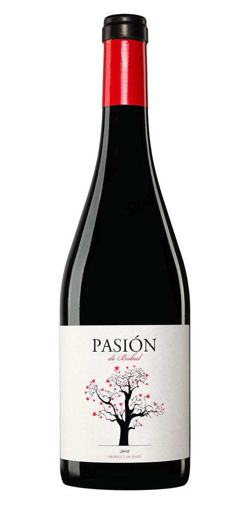 Pasión de Bobal wine bottle design