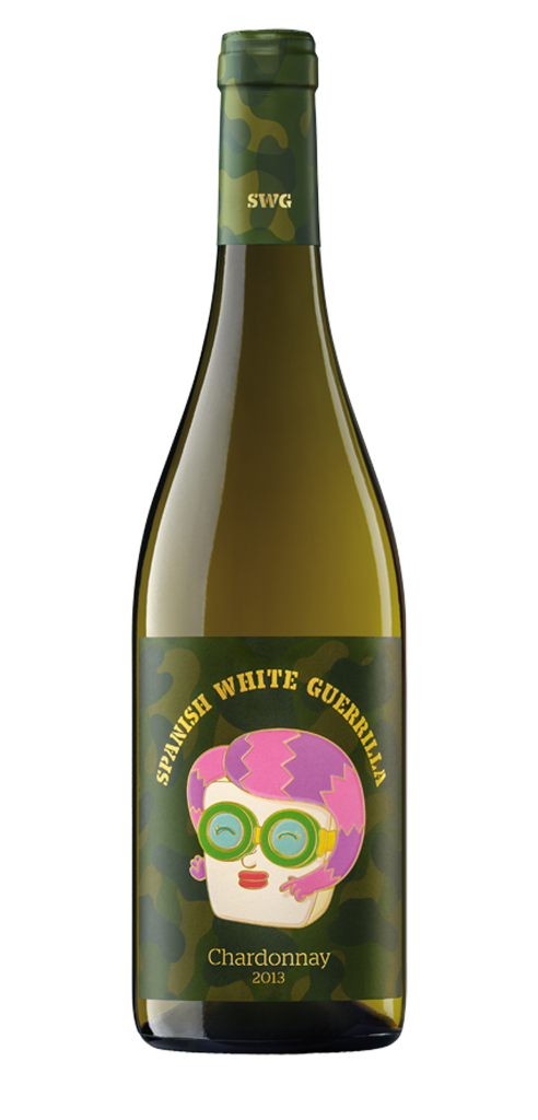 SWG Chardonnay 2013 wine bottle design