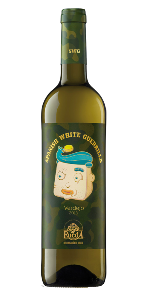 SWG Verdejo 2013 wine bottle design