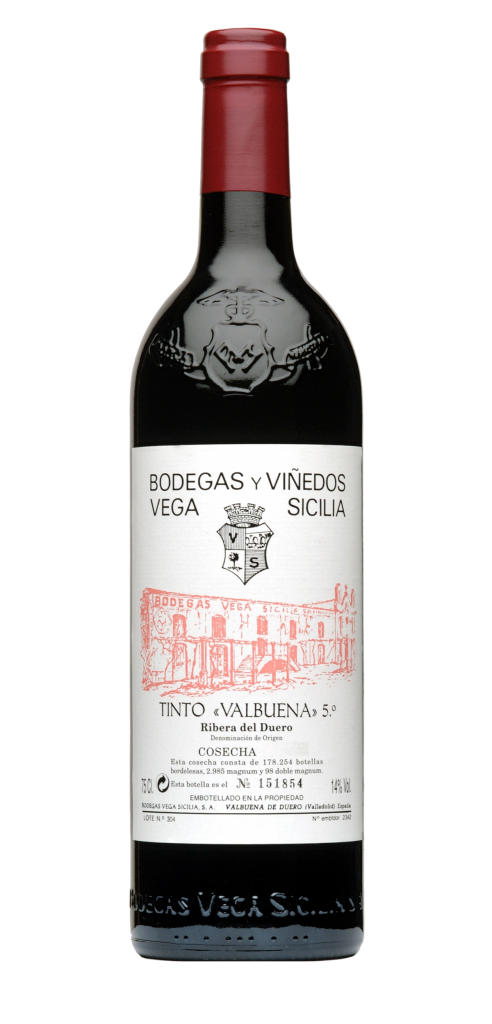 Vega Sicilia Tinto Valbuena wine bottle design