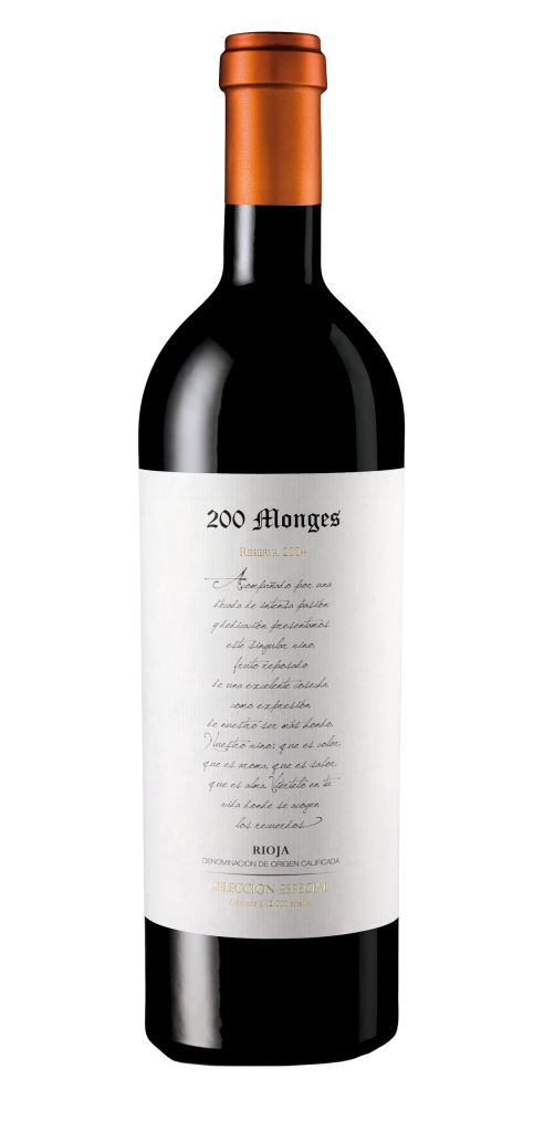 200 Monges wine bottle design