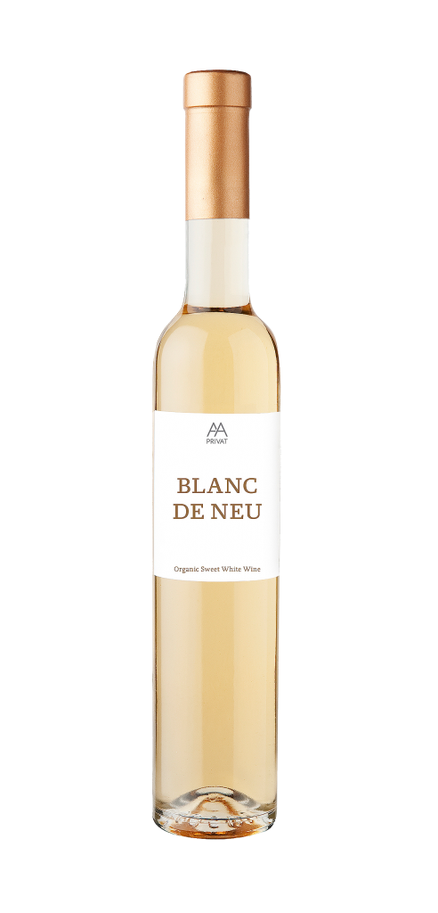 Alta Alella Blanc de Neu wine bottle design