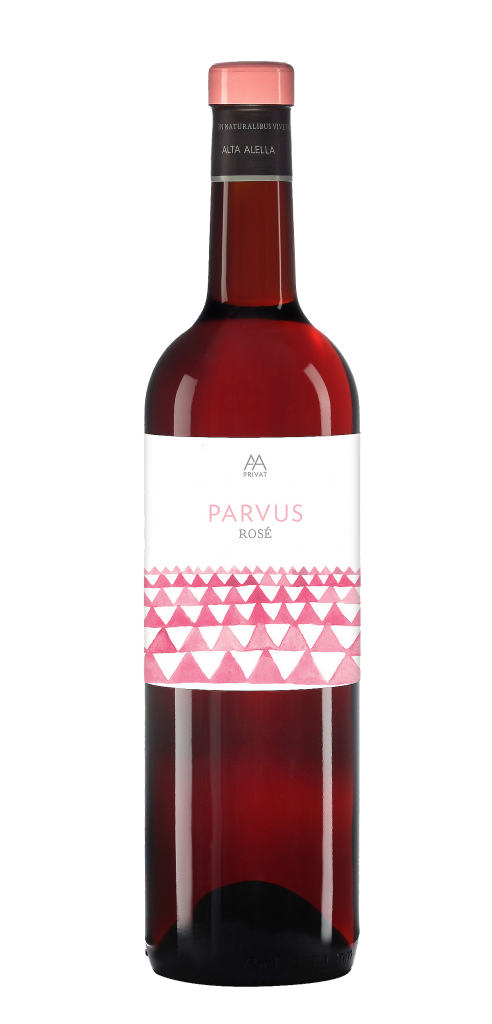 Alta Alella Parvus Rose wine bottle design