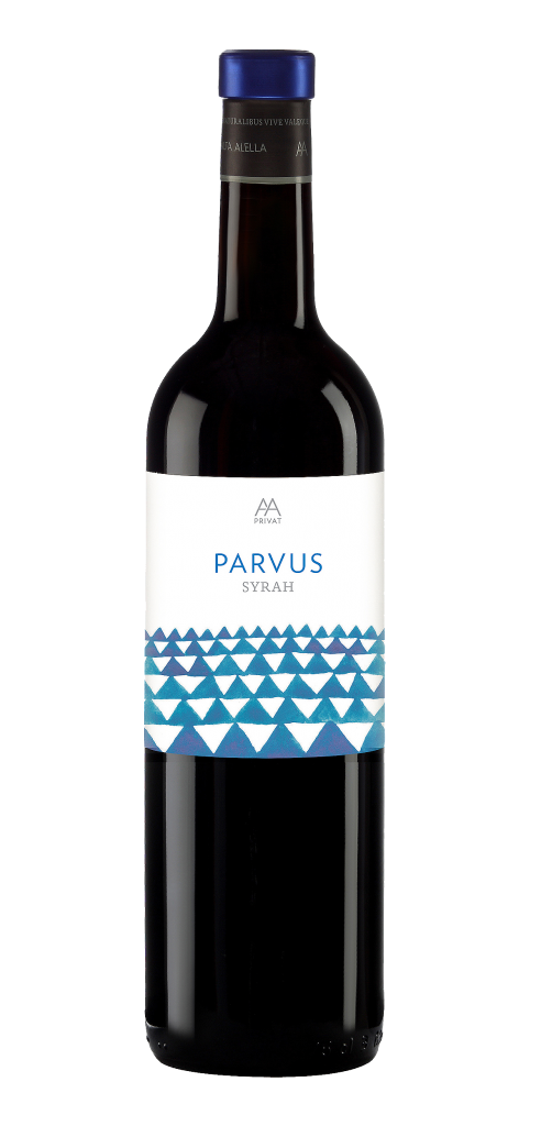 Alta Alella Parvus Syrah wine bottle design