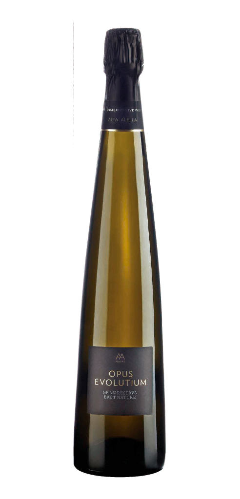 Alta Alella Privat Opus Evolution wine bottle design