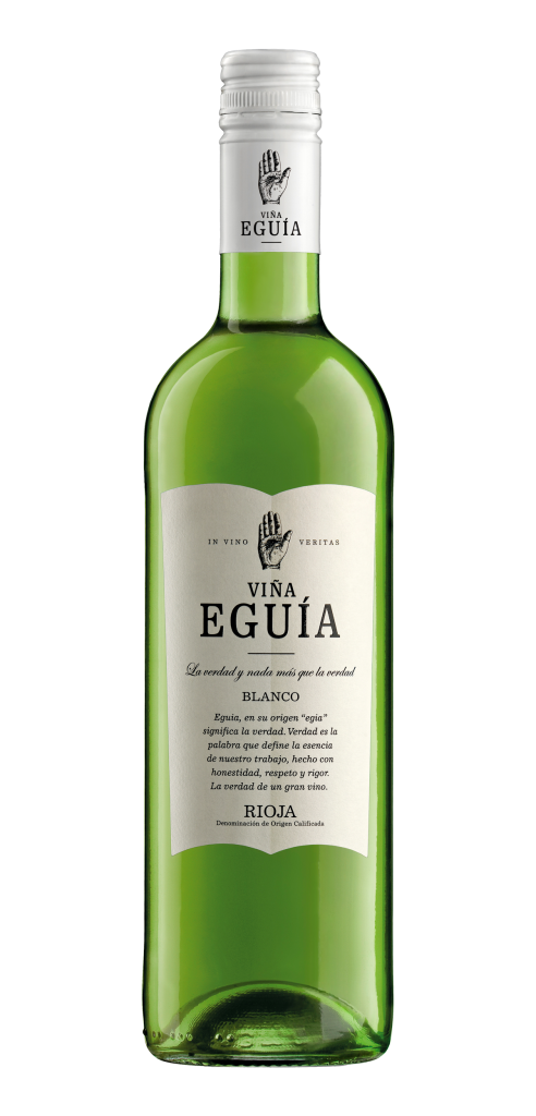 Viña Eguia Blanco wine bottle design