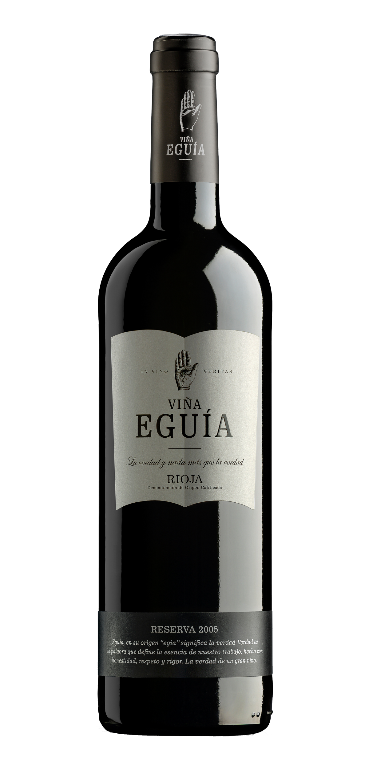 Viña Eguia Reserva wine bottle design