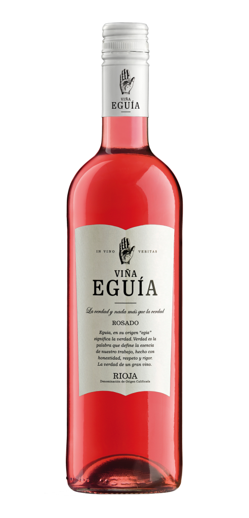 Viña Eguia Rosado wine bottle design