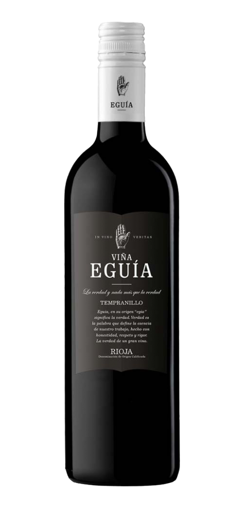 Viña Eguia Tempranillo wine bottle design