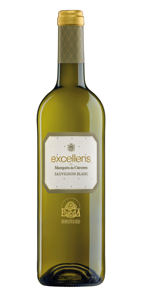 Excellens Sauvignon Blanc wine bottle design
