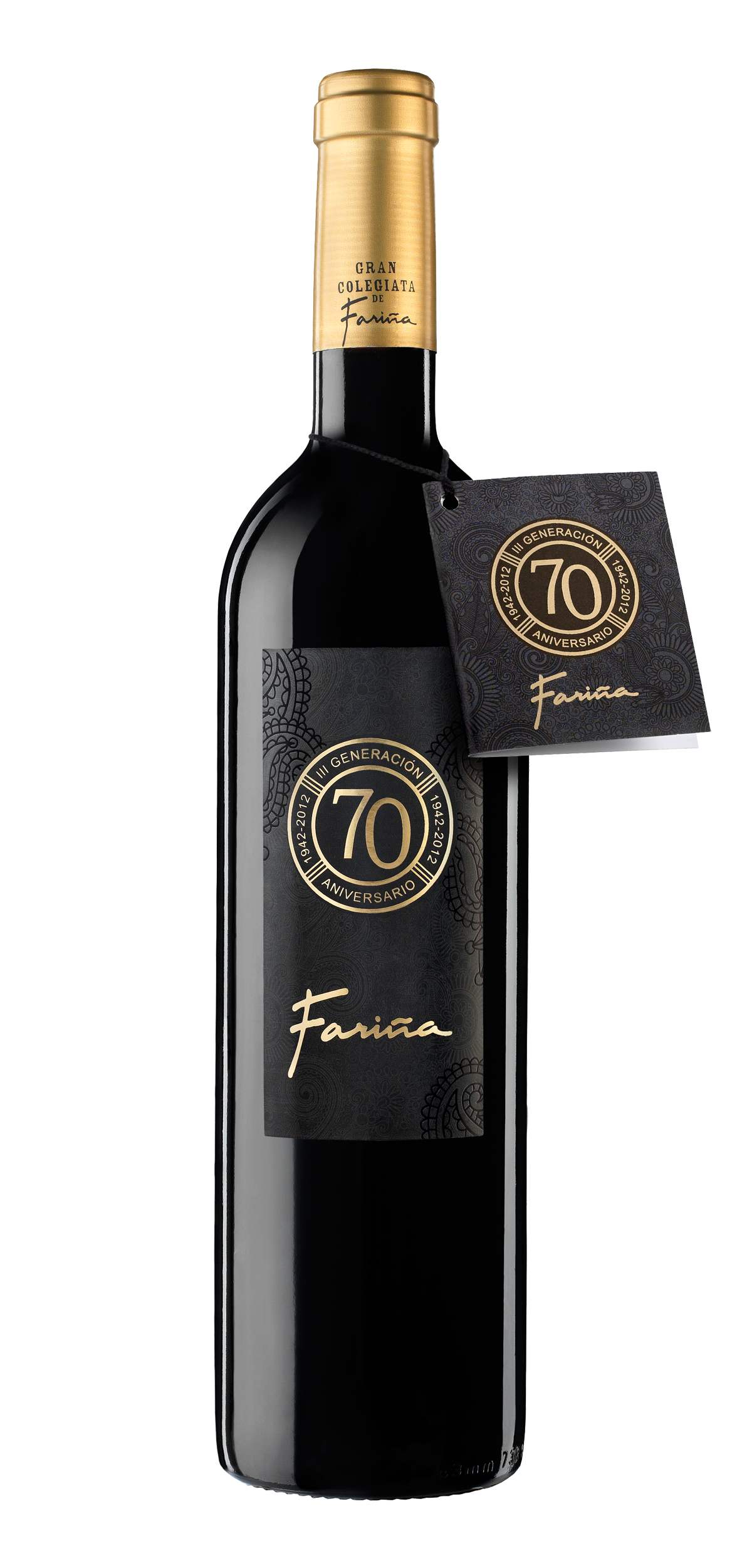 Farina 70 Aniversario wine bottle design