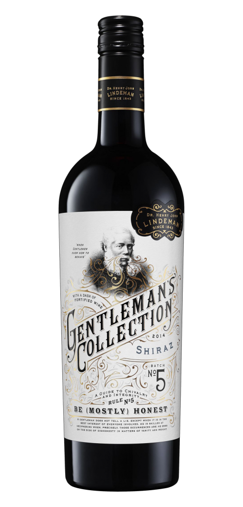 Gentleman's Collection wine bottle design