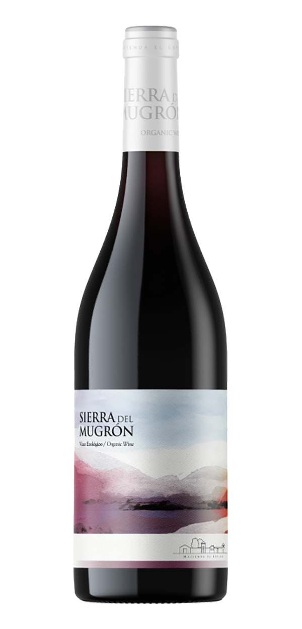 Sierra del Mugron Red wine bottle design