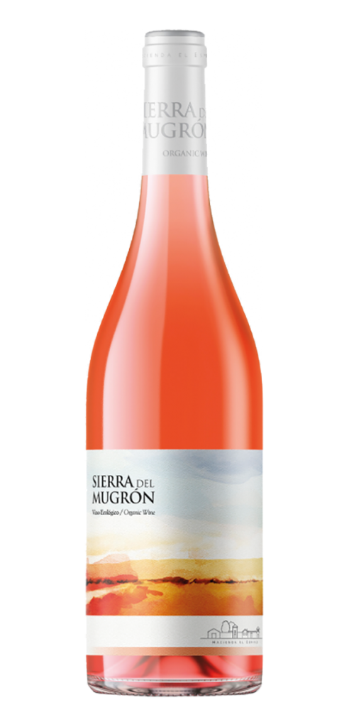 Sierra del Mugron Rose wine bottle design