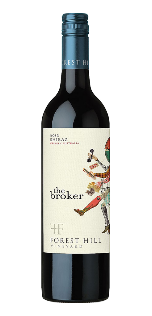 The Broker wine bottle design