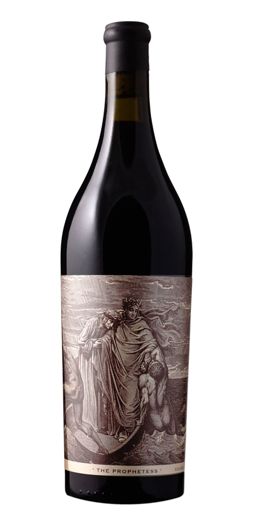 The Prophetess wine bottle design