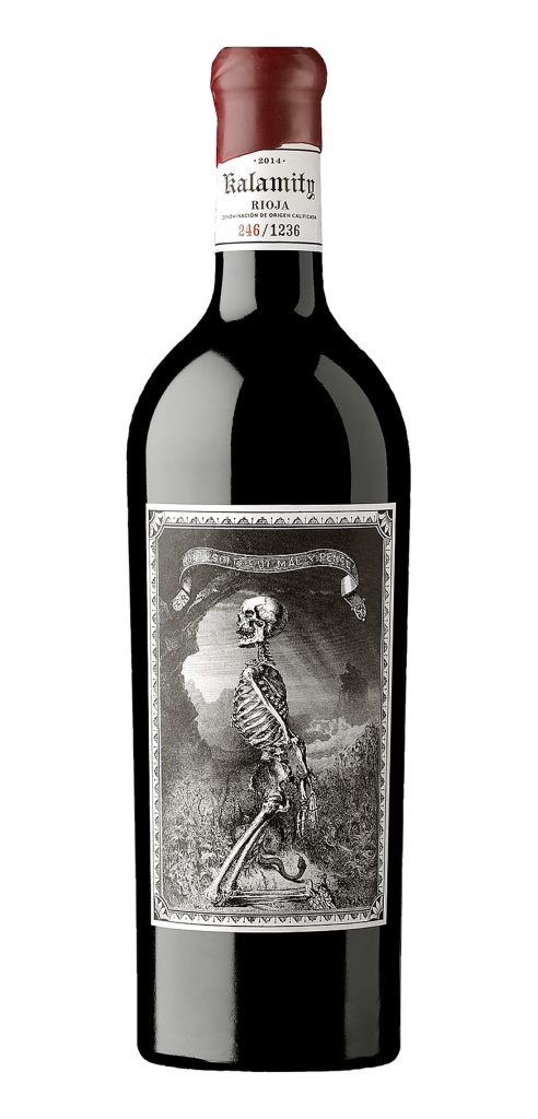 Kalamity wine bottle design