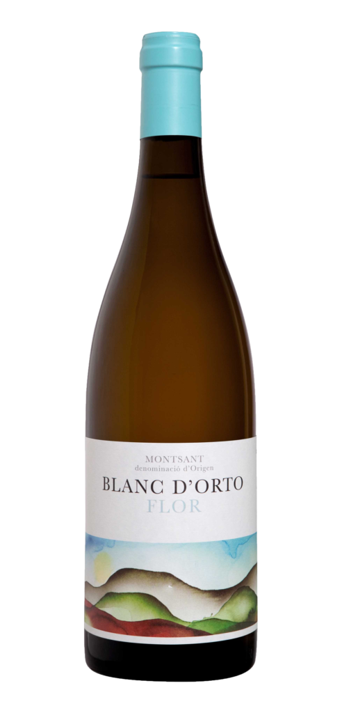 Blanc d'Orto Flor wine bottle design