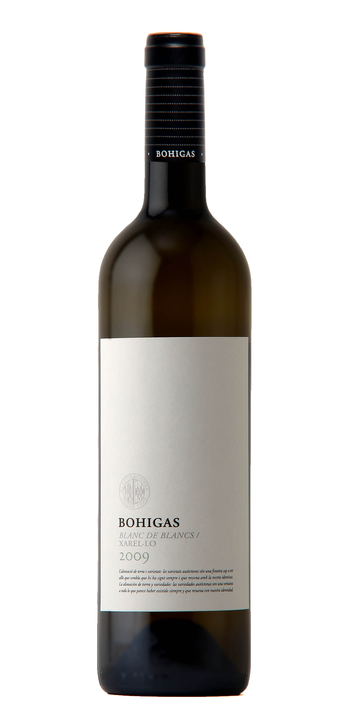 Bohigas wine bottle design