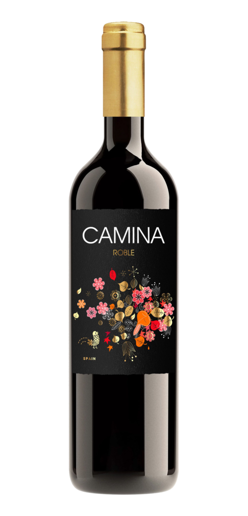 Camina Roble wine bottle design