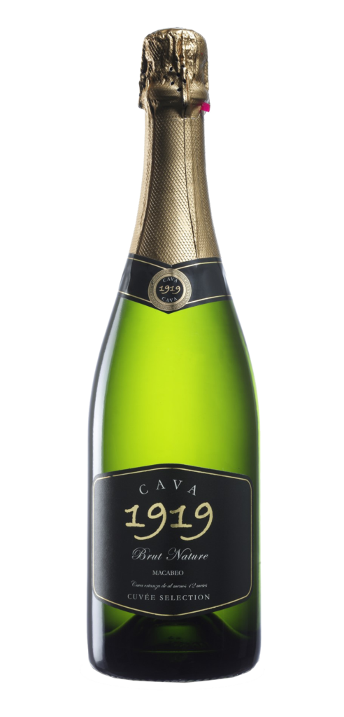 Cava 1919 wine bottle design