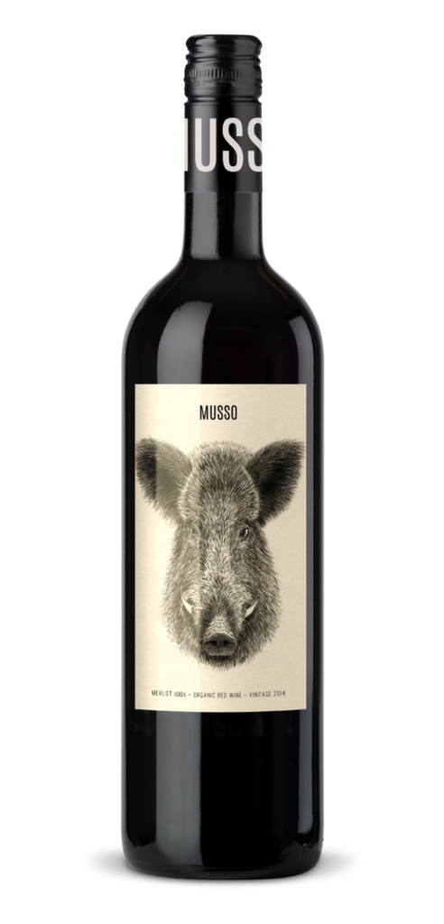 Musso wine bottle design