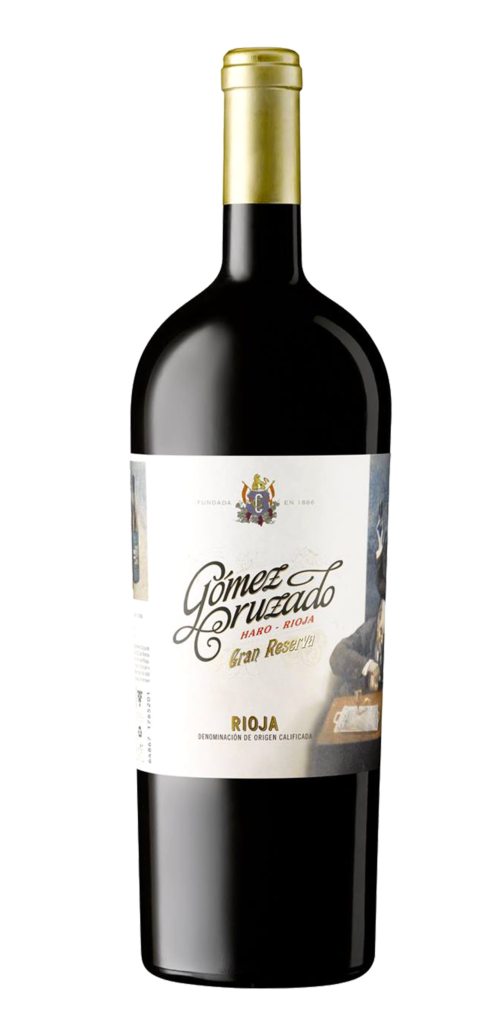 Gomez Cruzado Gran Reserva wine bottle design