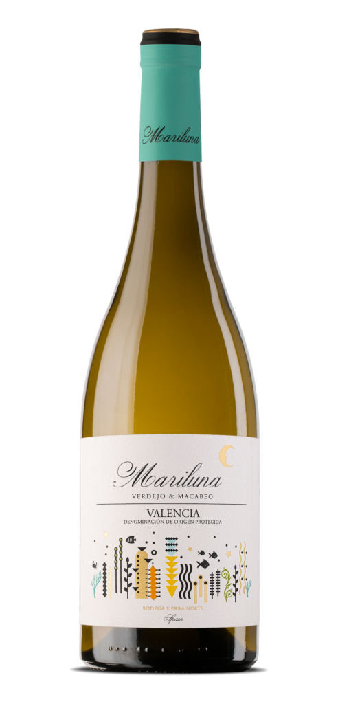 Mariluna wine bottle design