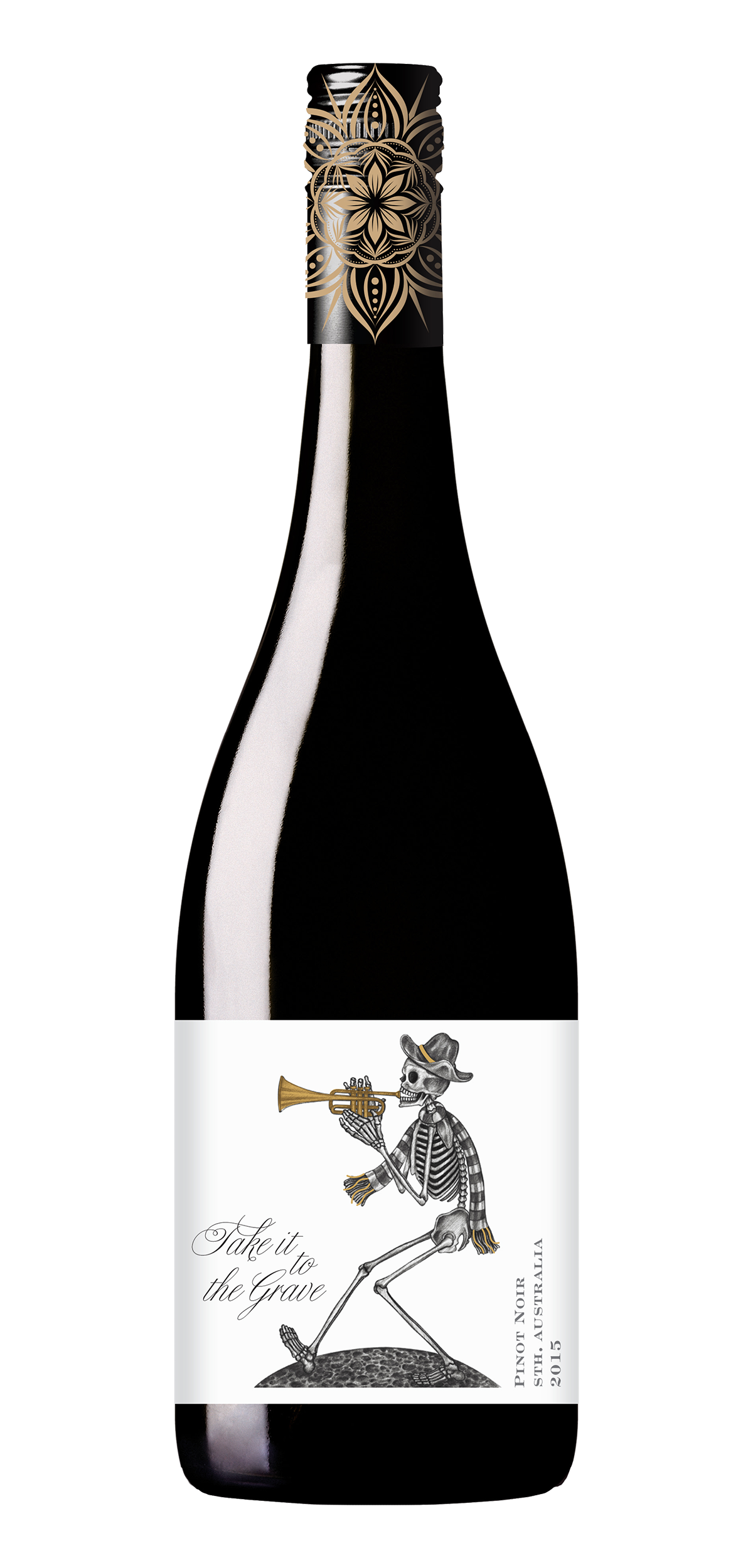 Take It To The Grave wine bottle design