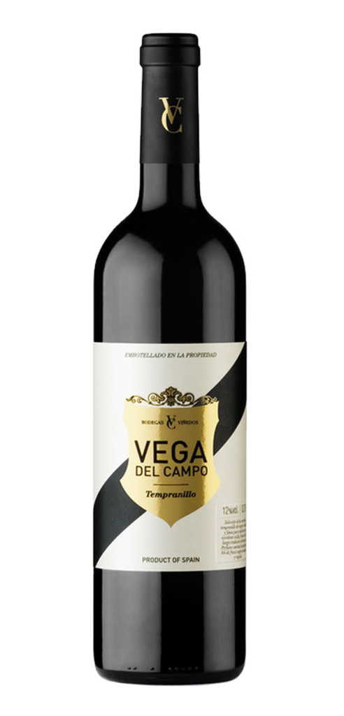 Vega Del Campo wine bottle design