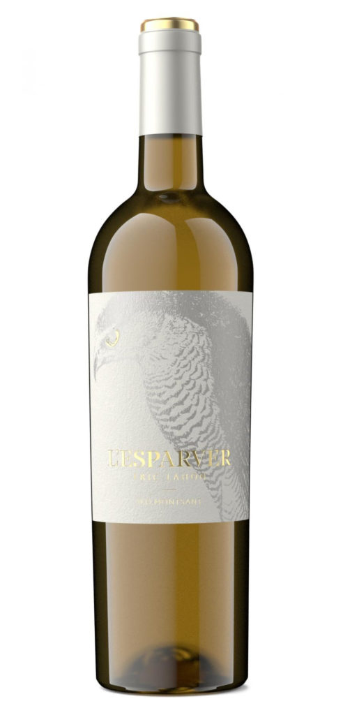 L'Esparver wine bottle design